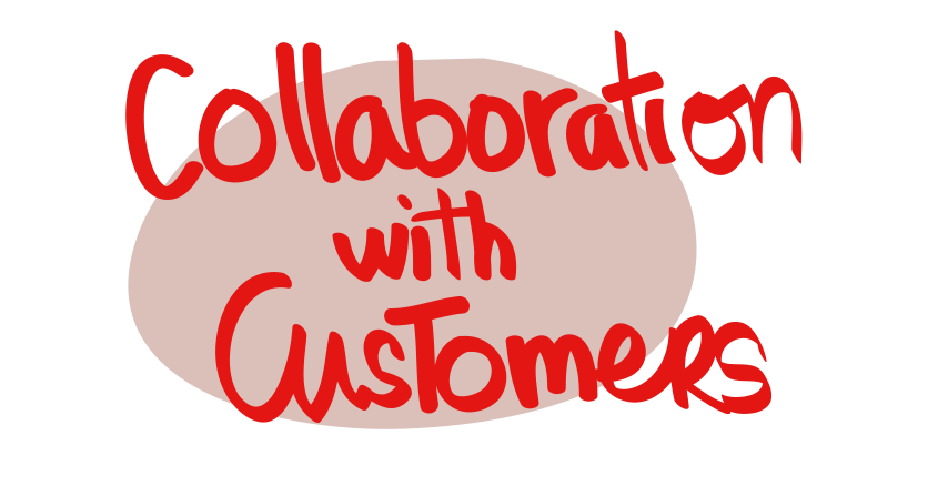values collaboration with customers Small