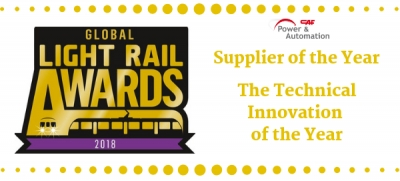 CAF Power & Automation awarded at Global Light Rail Awards